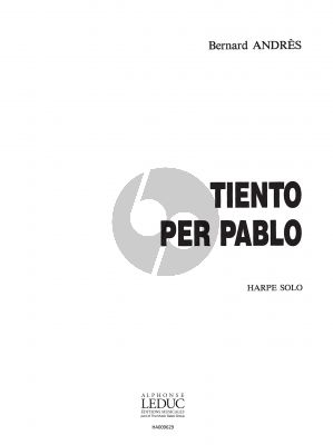Andres Tiento per Pablo pour Harpe