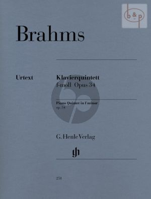 Quintett f-moll Op.34 (2 Vi.-Va.-Vc.-Piano)
