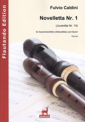 Caldini Novelletta No.1 (Juvenilia No.14) Sopran Blockflöte (Altblfl.)-Klavier