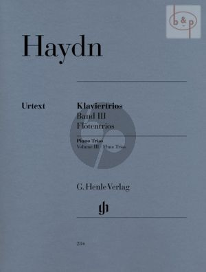 Haydn Klaviertrios Vol. 3 (Flotentrios) (edited Wolfgang Stockmeier) (Henle-Urtext)