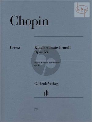 Chopin Sonate No.3 Op.58 h-moll Klavier (Ewald Zimmermann)