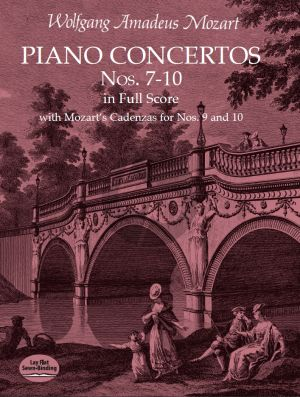 Mozart Piano Concertos No. 7 - 10 Piano and Orchestra (Full Score)