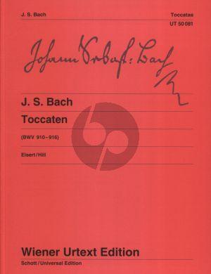 Bach Toccaten BWV 910 - 916 Klavier (Edited by Christian Eisert - Fingering by Robert Hill) (Wiener-Urtext)