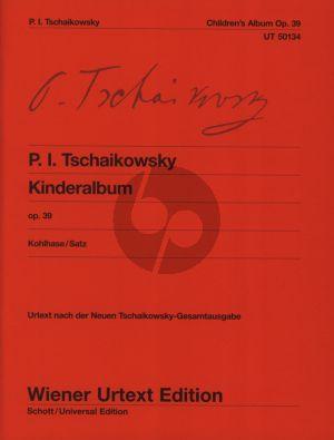 Tchaikovsky Kinderalbum Op. 39 Piano solo (edited by Thomas Kohlhase) (Wiener Urtext)