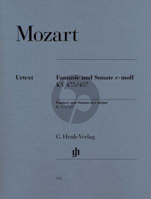 Mozart Fantasie und Sonate c moll KV 475/457 Klavier (Ernst Herttrich) (Henle-Urtext)