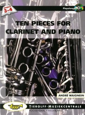 Waignein 10 Pieces Clarinet and Piano (Book-CD) (grade 3 - 4)