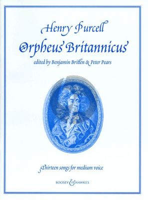 Purcell 13 Songs from Orpheus Britannicus Medium Voice-Piano