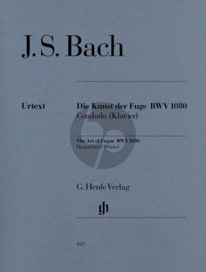 Bach Kunst der Fuge BWV 1080 for Harpsichord or Piano (edited by Davitt Moroney) (Henle Urtex - Without Fingering/One Fingersatz)