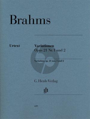 Variationen Op.21 No.1 und No.2 fur Klavier