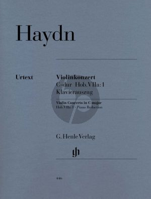 Haydn Concerto C-major VIIa:1 Violin-Orchestra Edition Violin and Piano) (edited by Gunther Thomas and Heinz Lohmann - Cadenzas Franz Beyer) (Henle-Urtext)