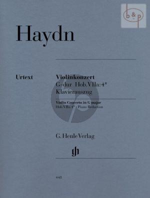 Concerto G-major (Hob. VIIa:4*) Violin and Orchestra
