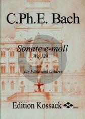 Bach Sonate e-moll WQ 124 Flute-Guitar (Kloyer)