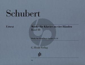 Schubert Werke Vol.3 Klavier 4 Hd. (ed. Willi Kahl) (Henle)