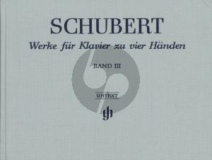 Schubert Werke vol.3 Klavier 4 Hd Hardcover / Leinen / Gebonden (Henle-Urtext)