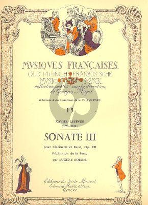 Lefevre Sonate Op.12 No.3 Clarinette-Piano (Eugene Borrel)