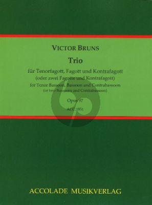 Bruns Trio Op. 97 Fagottino [Fagott]-Fagott-Kontrafagott (Part./Stimmen) (Bodo Koenigsbeck)