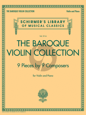 The Baroque Violin Collection – 9 Pieces by 9 Compers)