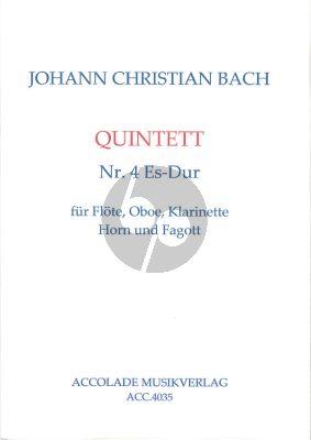 Bach Quintett No.4 Bläserquintett (orig. Klar.-Fagott- 2 Horner) (Part./Stimmen) (transcr. Jürgen Schmidt)