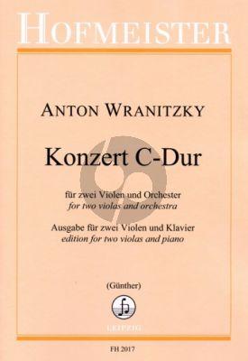 Wranitzky Konzert C-dur 2 Violen-Orchester (Klavierauszug) (herausg. Paul Gunther)