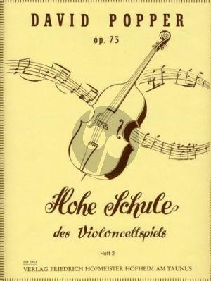 Popper Hohe Schule des Violoncellspiels Op.73 Vol.2