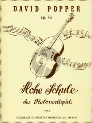 Popper Hohe Schule des Violoncellspiels Op.73 Vol.3