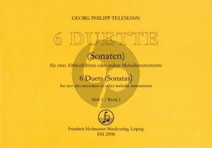 Telemann 6 Duette Vol.1 (No.1-3) 2 Altblocklfl. (Hans-Ulrich Niggemann)
