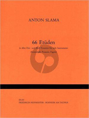Slama 66 Etuden (in allen Dur- und Moll-Tonarten) für Tiefe Instrumente