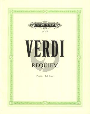Verdi Requiem 4 Solisten (SATB), Chor (SATB) und Orchester Partitur (Herausgegeben von Kurt Soldan)