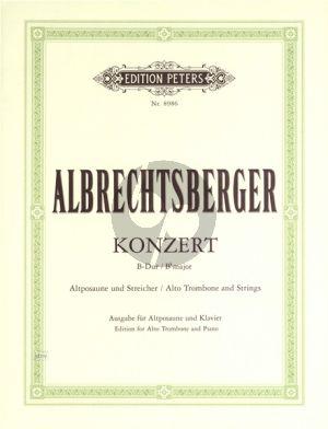 Albrechtsberger  Concerto B flat major Alto Trombone-Orch. (piano red.)