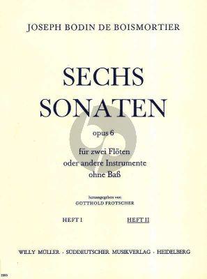 6 Sonaten Op. 6 Vol. 2 2 Flöten