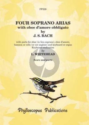 4 Arias Soprano Voice-Oboe d'Amore Obbligato