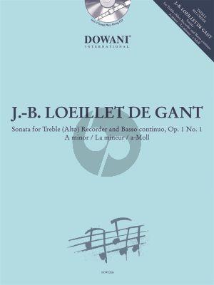 Loeillet Sonata a-minor Op.1 No.1 Treble Recorder-Bc (Bk-Cd) (Dowani)