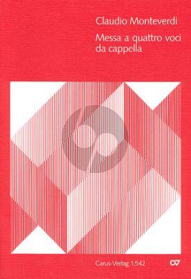 Monteverdi Messa a 4 voci (Messa à quattro voci et salmi 1650) SATB-Orgel