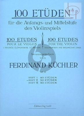100 Etuden Op.6 Vol.2 30 Etuden fur die Anfangs- und Mittelstufe im Violinspiel