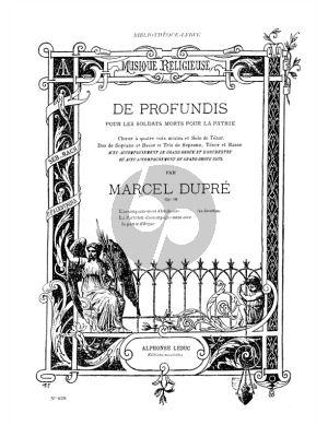 Dupre De Profundis pour les Soldats Morts pour la Patrie Op.18 (Soloists, SATB and Organ accompaniment)