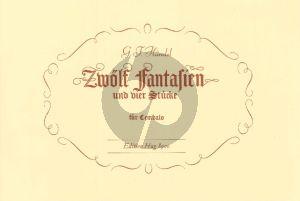 Handel 12 Fantasien und 4 Stucke Cembalo (aus dem Nachlass von Nageli) (Georg Walter)