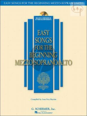 Easy Songs for the Beginning Mezzo-Soprano/Alto Singers