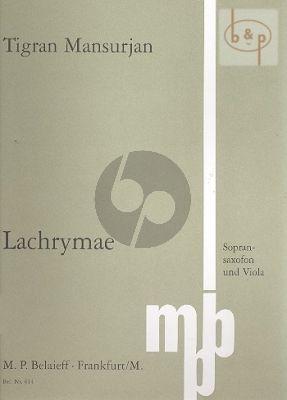 Lachrimae Soprano Sax.-Viola