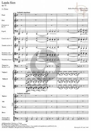 Mendelssohn Lauda Sion MWV A24 (Op.73) (Soli-Choir-Orch.) (Score) (Carus)