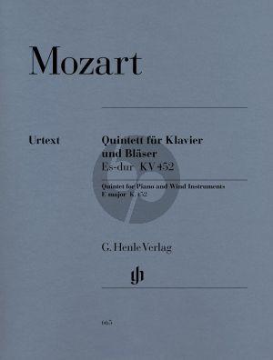 Mozart Quintett Es-dur KV 452 (Part./St.) (Henle-Urtext)