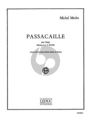Merlet Passacaille pour Harpe (Ostinato de J.S.Bach) (Grade 8)