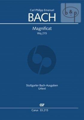Bach Magnificat WQ 215 Soli-Choir-Orchestra Full Score (Carus)