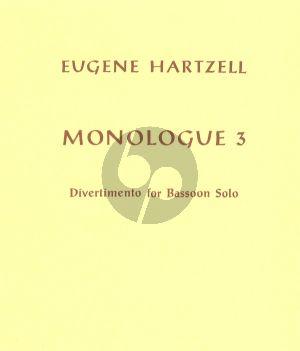 Hartzell Divertimento (Monologue 3) Fagott solo (1964)