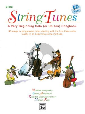 Stringtunes for Viola (A Very Beginning Solo (or Unison) Songbook) (Bk-Cd)