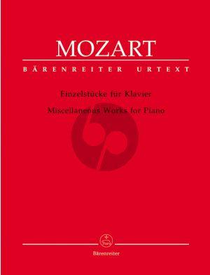Mozart Einzelstücke Klavier (Wolfgang Plath) (Barenreiter-Urtext)