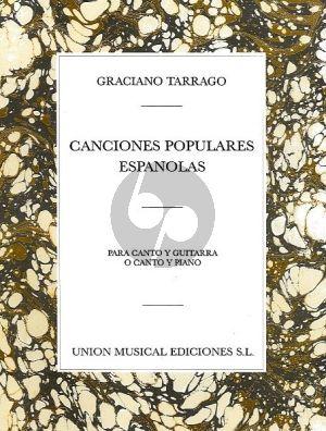 Tarrago Canciones Populares Espanolas Vol.1 Voice with Guitar (or Piano)