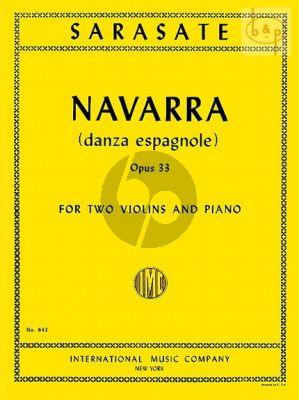 Navarra Op. 33 2 Violins and Piano