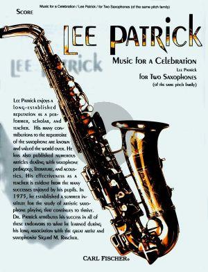 Patrick Music for a Celebration for 2 Saxophones (Score/Parts)