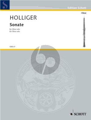 Holliger Sonate Oboe solo (1956 / 57 ,rev.1999)