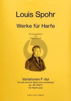 """Spohr Variationen F-dur uber """"Je suis encore dans mon printemps Op.36"""